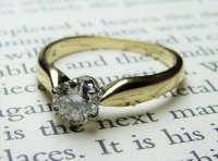 Antique Guest and Philips - 18ct Yellow Gold and White Gold Round Brilliant Cut Diamond Ring