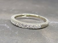 Antique Guest and Philips - Diamond Set, White Gold - Half Eternity Ring