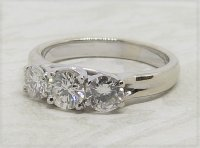 Antique Guest and Philips - 1.00ct Diamond Set, White Gold - Three Stone Ring