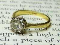 Antique Guest and Philips - 18ct Yellow and White Gold Round Briliant Diamond Set Solitaire Ring
