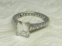 Antique Guest and Philips - 1.54ct. Platinum and Diamond Set Single Stone Ring