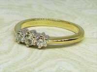 Antique Guest and Philips - Yellow Gold and Diamond Three Stone Ring
