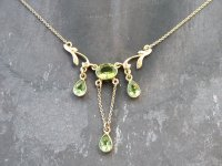 Peridot Oval and Pear Shape Pendant