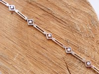 Diamond, Yellow Gold and Platinum fronted 5 Stone Diamond Bracelet