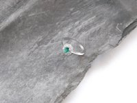Guest and Philips - Emerald Set, 18ct. White Gold Cluster Ring, Size N