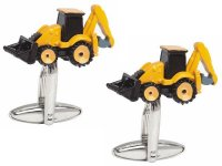Dalaco - Stainless Steel Digger Yellow and Black Cufflinks