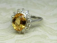 Antique Guest and Philips - Platinum and Topaz Set Cluster Ring