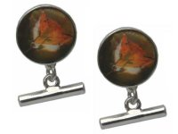 Dalaco - Fox Head, Enamel T-bar Cufflinks