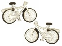 Dalaco - Bicycle Rhodium Plated Cufflinks
