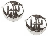 Dalaco - Gear Lever Rhodium Plated Cufflinks