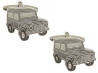 Dalaco - Landrover (Defender) Rhodium Plated Cufflinks