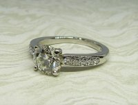 Antique Guest and Philips - Diamond Set, Platinum - Single Stone Ring