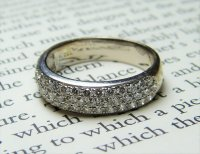Antique Guest and Philips - 18ct White Gold Round Brilliant Diamond Set Pave Ring