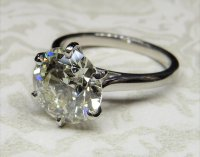 Antique Guest and Philips - RB Diamond 5.01ct Colour K Clarity VS1 Set, Platinum - Solitaire Ring