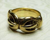 Antique Guest and Philips - Yellow Gold 9ct Buckle Ring