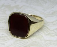 Antique Guest and Philips - Cornealian Set, Yellow Gold - Signet Ring
