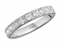 Guest and Philips - Platinum and Diamond Half Eternity Ring Size N