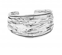 Tianguis Jackson - Sterling Silver Wrinkled Bangle