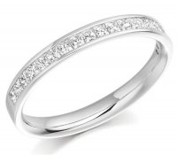 Guest and Philips - Diamond 0.50ct. F/G VS1/VS2 Set, Paladium Half Eternity Ring, Size K