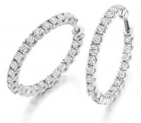Round Brilliant Cut Diamond Earrings