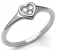 Links of London - Open Heart, Moonstone Set, Sterling Silver - Sterling Silver - Ring, Size P