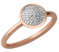 Links of London - Diamond Essentials, Diamond Set, 18kt Rose Gold Vermail Pave Set Round Ring, Size N
