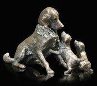 Richard Cooper - Retriever with Puppies, Ornament 1068 - 1068