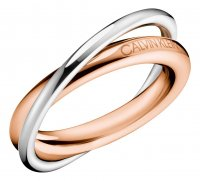 Calvin Klein - Stainless Steel With Rose Gold Plating Ring, Size L