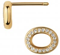 Links of London - Ovals, WhiteTopaz Set, Yellow Gold Plated - - Stud Earrings