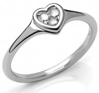 Links of London - Open Heart, Moonstone Set, Sterling Silver - Sterling Silver - Ring, Size N