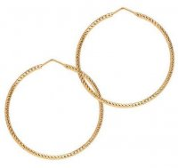 The Hoop Station - La Roma, Yellow Gold Plated Hoop Earrings