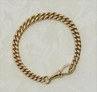 Antique Guest and Philips - Yellow Gold Solid Graduated Curb Link Bracelet