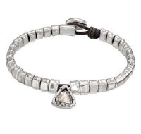 Uno De 50 - All Stars, Swarovski Set, Silver Plated and Leather Bracelet, Size Medium