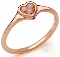 Links of London - Open Heart, Opal Set, Rose Gold Plated - - Ring
