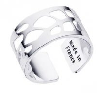 Les Georgettes Paris - Fougere, Brass - Silver Plated - Ring, Size 12mm L