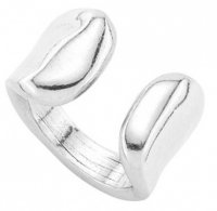 Uno de 50 - Media Naranja, Silver Plated Alloy Ring, Size XL