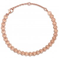 Links of London - Endless Love , Rose Gold Plated Heart Bracelet