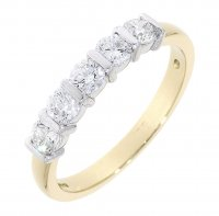 Guest and Philips - 18ct Yellow and White Gold Diamond Bar Set Ring
