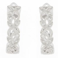 Ungar and Ungar - Diamond 0.23 Set, White Gold - 18ct Drop Earrings