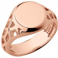 Links of London - Timeless, Rose Gold Plated - Signet Ring, Size N