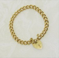 Antique Guest and Philips - Yellow Gold Hollow Curb Link Bracelet