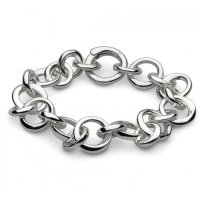 Kit Heath - Bevel Cirque, Silver Link Bracelet
