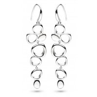 Kit Heath - Silver Coast Shore Sandblast Drop Earrings