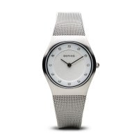 Bering - Ladies, Stainless Steel Mesh Band With White Dial Watch