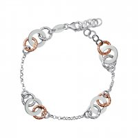 Links of London - Aurora, Sterling Silver, Rose Gold and Yellow Gold Vermeil Bi-Metal, Multi Link Bracelet