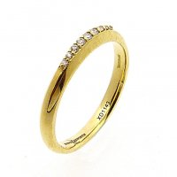 Shaped Eternity - Wedding Ring, Diamond Set in 18ct. Yellow Gold