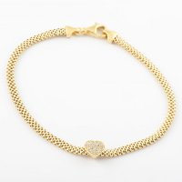 Virtue - Sterling Silver, Yellow Gold Plated Heart Bracelet