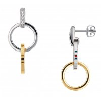 Tommy Hilfiger - Stainless Steel Box Chain Earrings
