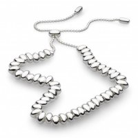 Kit Heath - NW Coast Tumble, Sterling Silver Full Row Toggle