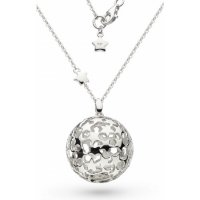 Kit Heath - NW Stargazer, Sterling Silver - Rhodium Plated - Large Orb, Size 32""